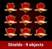 Shields set Royalty Free Stock Photography