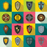 Shields set icons Stock Images