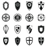Shields set icons Royalty Free Stock Images