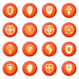 Shields set icons vector set Royalty Free Stock Photography