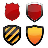 Shields on White. Various shield emblems isolated over a white background. Vector image vector illustration