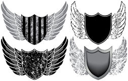 Shields with Wings Stock Image