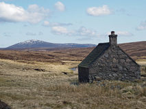 Shielin of Mark bothy, Scotland. Scotland south east Cairngorms in may Royalty Free Stock Photography