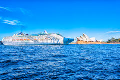 Shif and Sydney Opera House. The Shif and Sydney Opera House  Sep,23,2016.The Sydney Opera House,Sydney,Australia is famous art center Stock Photo