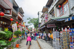 Shifen Old Street in Taiwan Stock Image