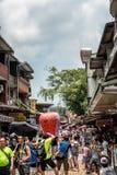 Shifen, Taiwan - Juli 24, 2016: De Oude de Straatsectie o van Shifen Stock Foto