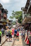 Shifen, Taiwan - Juli 24, 2016: De Oude de Straatsectie o van Shifen Stock Afbeelding