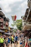 Shifen, Taiwan - Juli 24, 2016: De Oude de Straatsectie o van Shifen Stock Fotografie