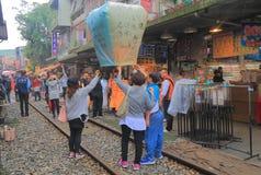 Shifen town cityscape Taipei Taiwan Royalty Free Stock Images