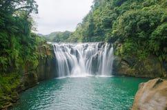Shifen vattenfall, Taiwan Fotografering för Bildbyråer