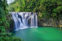 Shifen Waterfall - Famous nature landscape of Taiwan, shot in Pingxi District, New Taipei, Taiwan. Shot in Pingxi District, New Taipei, Taiwan stock image