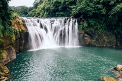 Shifen Waterfall, New Taipei, Taiwan. Famous Shifen Waterfall, New Taipei, Taiwan Royalty Free Stock Photography