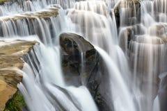 Shifen waterfalls. Part of the Shifen waterfalls Royalty Free Stock Image