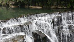 Shifen waterfall in Taiwan stock video footage