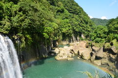 ShiFen Waterfall Taiwan Royalty Free Stock Images