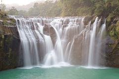 Shifen waterfalls. The picture of Shifen waterfalls Royalty Free Stock Photo