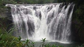 Shifenwaterval, Pingxi, Nieuw Taipeh, Taiwan Populaire toeristische attractie stock footage