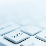 Shift. Key detail view, close up image Royalty Free Stock Photography