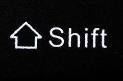 Shift. Computer Shift button - close view Stock Photo
