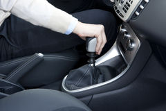 Shift car gear Royalty Free Stock Image