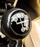 Shift Into Gear. 5 speed manual shifter Stock Image
