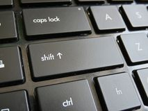 Shift Key On Keyboard. Black colored keyboard buttons Royalty Free Stock Photography