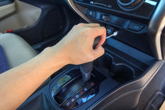 Shift level of gear transmission. / gear auto royalty free stock image