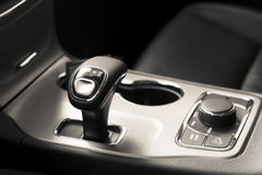 Shift lever and rotary knob Stock Photos