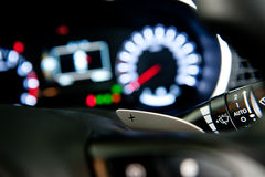 Shift paddles on steering wheel Stock Photography
