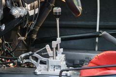Shifter gearbox in race car Royalty Free Stock Photography