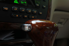 Shifter. Luxurious wood automatic transmission shifter Royalty Free Stock Photo