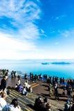 Shiga, Japan - November 13.2017: De Vallei van het Biwameer in Shiga Japan Meer Biwa op het centrum van Shiga-Prefectuur wordt ge royalty-vrije stock afbeeldingen