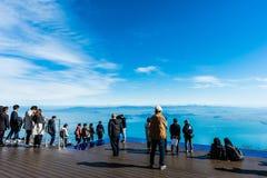 Shiga, Japan - November 13.2017: De Vallei van het Biwameer in Shiga Japan Meer Biwa op het centrum van Shiga-Prefectuur wordt ge stock foto's
