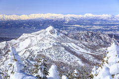 Shiga Kogen in winter Stock Photos