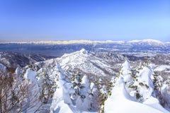 Shiga Kogen in winter Royalty Free Stock Photo