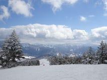 Shigakogen日本山天空 免版税库存照片
