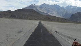 Shigar Cold desert. The Katpana Desert at Skardu, Gilgit-Baltistan in Pakistan, this desert is also known as the & x22;Cold Desert& x22;. There are sand dunes in royalty free stock images