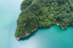 Shihmen水坝航拍 免版税库存图片