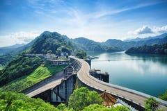 Shihmen水坝在福兴或大溪区,桃园,台湾 免版税库存照片