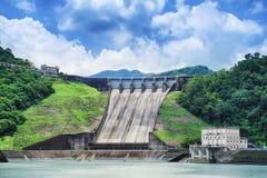 Shihmen水坝在福兴或大溪区,桃园,台湾 免版税库存图片