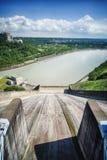 Shihmen Dam in Fuxing or Daxi District, Taoyuan, Taiwan. Royalty Free Stock Photo