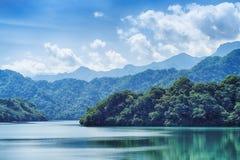 Shihmen Dam in Fuxing or Daxi District, Taoyuan, Taiwan. Stock Photography