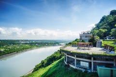 Shihmen Dam in Fuxing or Daxi District, Taoyuan, Taiwan. Stock Photo