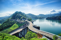 Shihmen Dam in Fuxing or Daxi District, Taoyuan, Taiwan. royalty free stock photos
