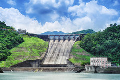 Shihmen Dam in Fuxing or Daxi District, Taoyuan, Taiwan. Royalty Free Stock Image