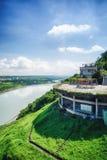 Shihmen Dam in Fuxing or Daxi District, Taoyuan, Taiwan. Royalty Free Stock Photos