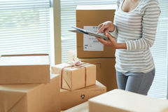 Shiiping parcels Royalty Free Stock Photo