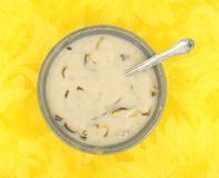 Shiitake cream of mushroom soup Stock Images