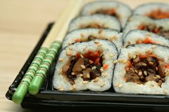 Shiitake Mushroom Sushi Stock Photography