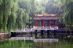 Shijiazhuang Pingan park pavilion ancient architecture Stock Images